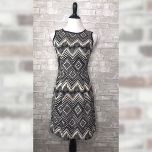 J.Crew diamond geometric print dress